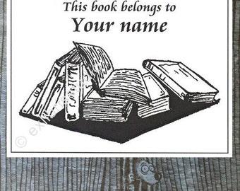 Ex Libris Books 25 Personalized Booklabels Bookplates