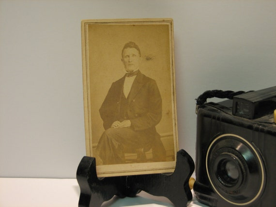 Vintage CDV Photo - Dr Winters with 2cent Proprietary Revenue Stamp