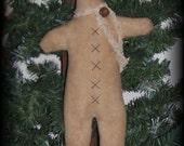 Prim Gingerbread Ornament