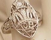 Antique VS Diamond 14Kt Gold Ring - Order of Amaranth