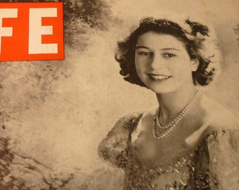 Vintage - Elizabeth the Queen - Cover of 1947 Life Magazine