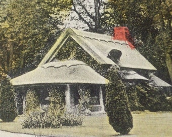 Vintage Postcard - The Gardens - Waiting for Alice and the White Rabbit