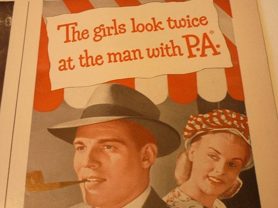 Vintage Ad - Pipe Appeal or Sun Burn Pain - Classic Ads from 1940. Original ads.