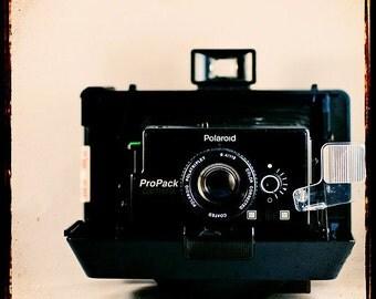 Vintage Camera Photography- Wall Art- Camera Love No 1-   retro inspired photograph of a vintage Polaroid camera
