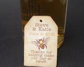 Mini Liquor bottle tags - wedding favor tag  - RESERVED