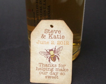 Mini Liquor bottle tags - wedding favor tag  by Just Scraps N' Things