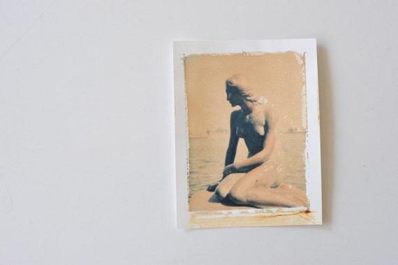 Den Lille Havfrue / The Little Mermaid Polaroid Transfer