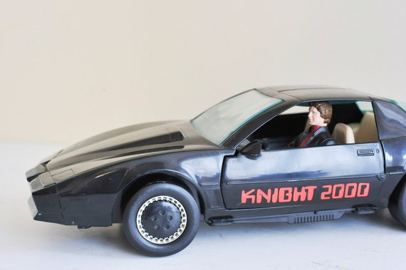 1983 Not in Box Knight Rider 2000 Car Talking K.I.T.T. with Michael Knight Figure by Kenner
