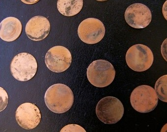 45 Vintage Copper Round Blanks // 1960s