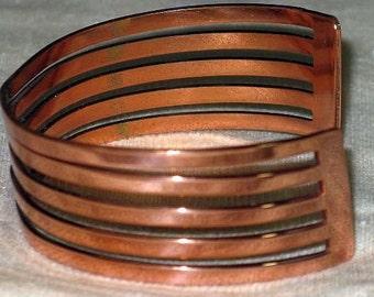 Vintage Renoir Wave Copper Cuff Bracelet (BR-1-6)