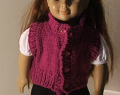 Knitted vest fits American Girl
