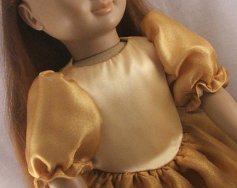 Fancy Gold Dress for American Girl