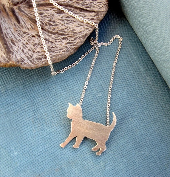 Sterling silver - Cat necklace