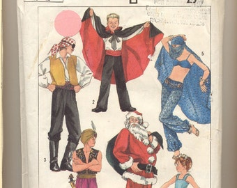 Simplicity 7651 Vintage Costume Pattern with a Variety of Costumes Youth 10-12
