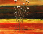 Abstract Flowers 2 - Original Acrylic landscape Abstract Painting