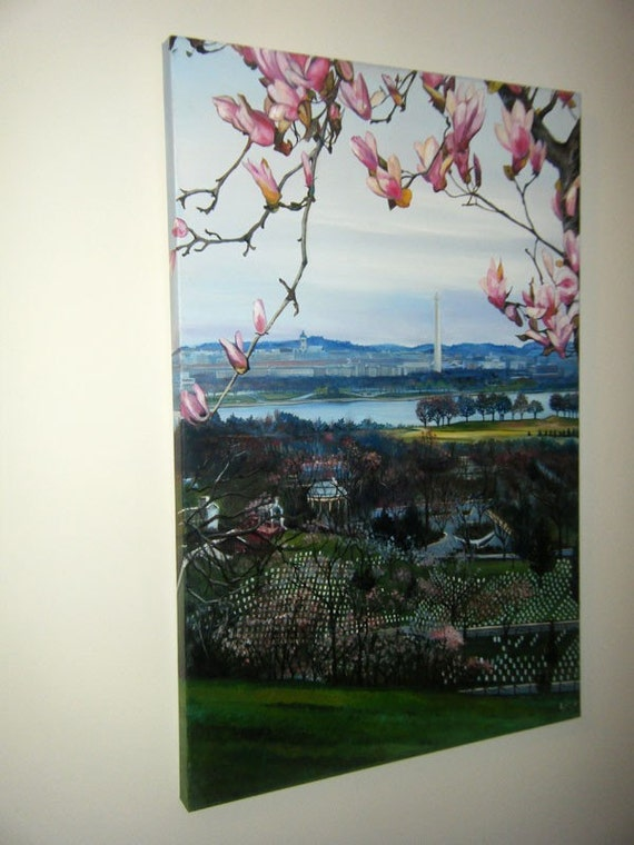 Original Oil Painting of Washington DC - 24x36in