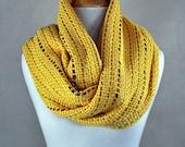 YELLOW GOLD shawl, AUTUMN trend, cotton, silk, handmade in a loom