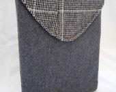Most Unique iPad Case Upcycled Herring Bone Coat  On Sale