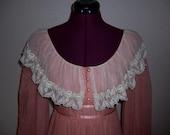 Gunne Sax Dress - Prairie Dress -1970s Gunne Sax Dress - Jessica McClintock - Size 7
