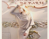 Light Evening LeMuse cotton longsleeved asymmetric dress