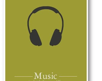 Music is What Feelings..../ Quote / DIGITAL Typography Poster / Printable
