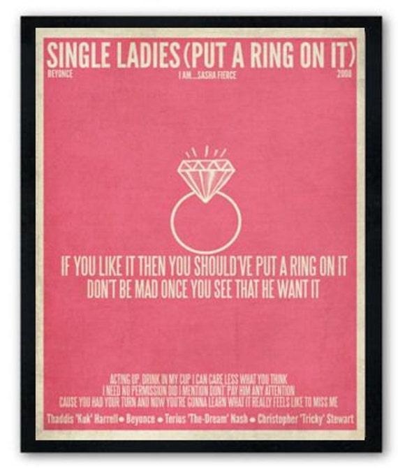 BEYONCE : Single Ladies(Put A Ring On It) lyrics