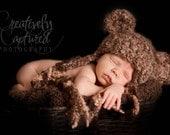 Crochet PATTERN Fuzzy-Wuzzy Teddy Bear Animal Hat Crochet Pattern Baby, Child, Teen, Women Sizes