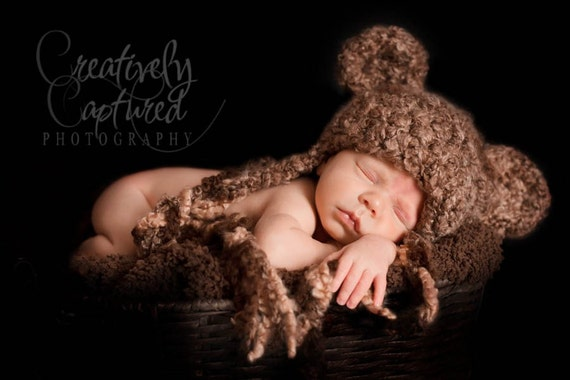 Crochet Hat PATTERN Crochet Bear Hat Fuzzy-Wuzzy Teddy Crochet Pattern Animal Hat Baby, Child, Teen, Women Sizes