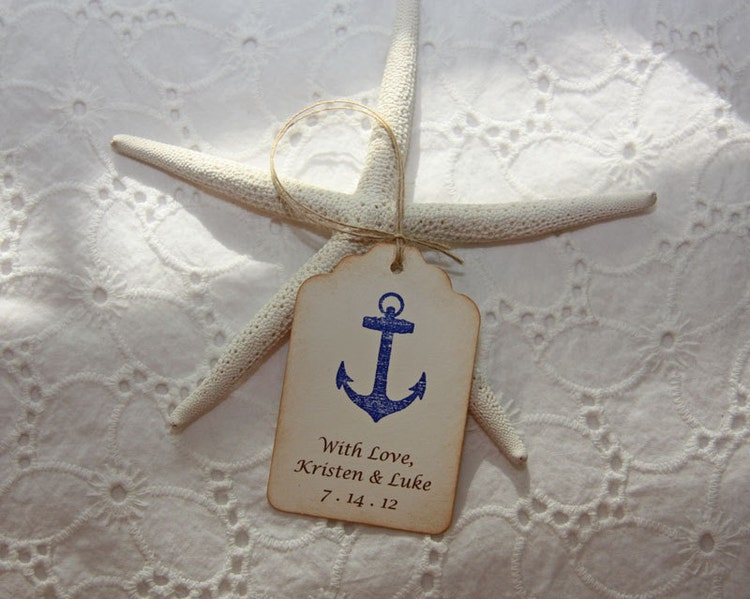 Nautical Wedding Gift Tags : Nautical Wedding Favor Tags Nautical by TorisCustomCreations