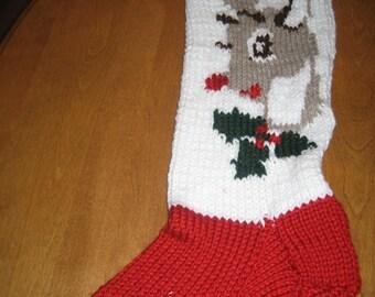 Reindeer Christmas Stocking, Christmas Stocking, Personalized Christmas Stocking