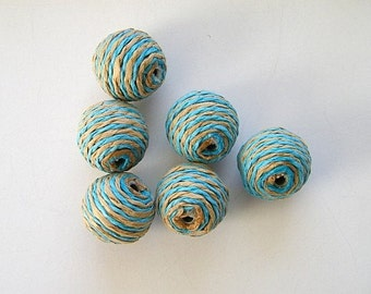 paper bead balls -  6