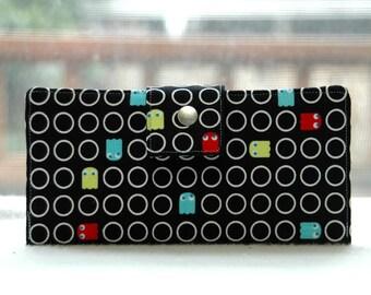 Women's wallet, geeky gift, geek gift idea, pacman gift, gift for mom, gift for wife, wallet for women, gamer gift