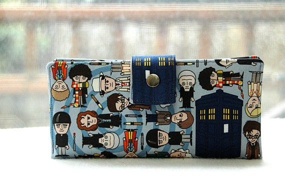 Wallet clutch womens iphone police call box who women wallet handmade doctor who