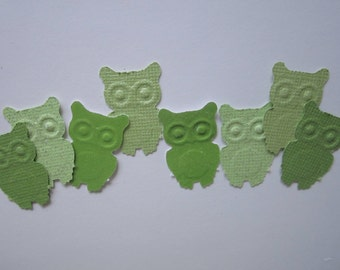 50 pc  Paper Green  Owls        Baby Shower    Birthday    Confetti