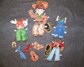 Western Fabric Paper Doll