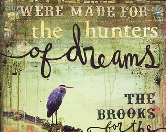 The Woods paper print - inspirational nature word art