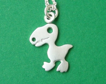 T-Rex Necklace Dinosaur Necklace Sterling Silver Kids Jewelry Dino Jewelry rose gold Dinosaur charm gold