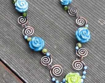 Turquoise in Bloom Necklace