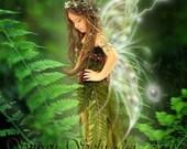 Resting in the Ferns by Susan Schroder  Fantasy Fairy Art Print