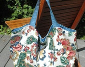 Jacobean in Blue Market or Tote Bag