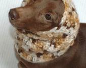 Italian Greyhound (Small Dog) Snood or Neck Warmer in Caramel Sundae Color