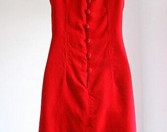 Luxurious Red Velvet Christmas Dress  -size 9/10