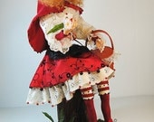 OOAK - Fantasy Art-doll - Little Red Ridding Hood - by Marina