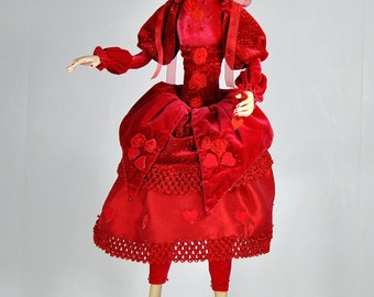 OOAK - Fantasy Artdoll - Queen of Hearts - by Marina
