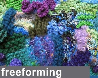tutorial for creative freeform knitting