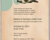 Baby Shower Invitation Vintage Airplanes - DIY Printable PDF File
