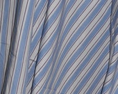 2 Yards Vintage Fabric Cotton Shirting Baby Blue and Lilac Stripes