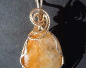 Wire Wrapped Citrine Pendant in 14K Gold Fill