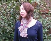 Opalescence - Handspun, handknit scarf