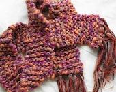 CLEARANCE Caramel Glitz - Handknit scarf